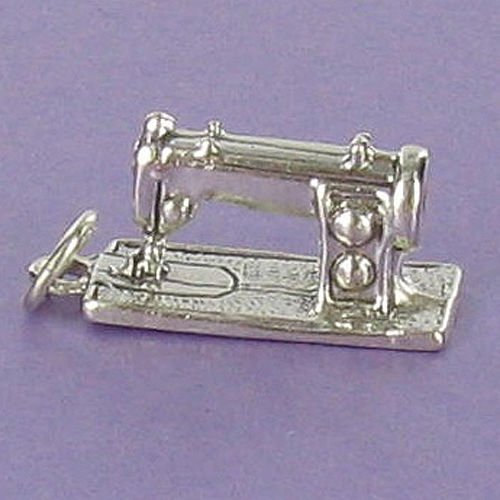 Sewing Machine Charm Sterling Silver for Bracelet Crafts Stitch Thread Quilting - Jewelry Accessories Key Chain Bracelets Crafting Bracelet Necklace Pendants