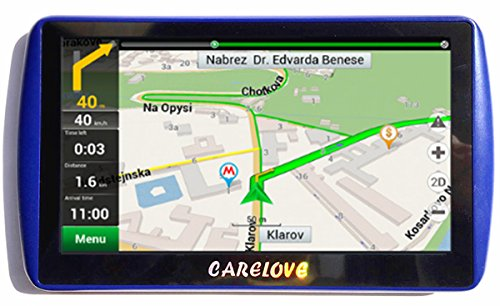 Carelove 7″ 790 Updated Version Car GPS Navigation 8G Touch Screen Pre-installed North America Maps Lifetime Free Map Update