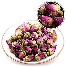 GOARTEA 50g (1.76 Oz) Organic Red Rosebud Rose Buds Flower Floral Dried Herbal Health Chinese Tea
