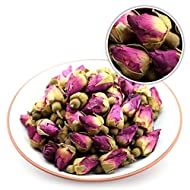 GOARTEA 100g (3.5 Oz) Organic Red Rosebud Rose Buds Flower Floral Dried Herbal Health Chinese Tea