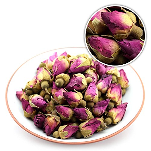 GOARTEA® 50g (1.76 Oz) Organic Red Rosebud Rose Buds Flower Floral Dried Herbal Health Chinese Tea