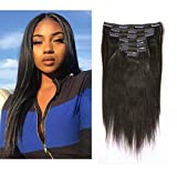 Best Clip In Hair Extensions For African American Hairs - Anrosa Yaki Clip ins Yaki Hair Extensions Clip Review