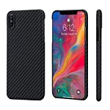 iPhone Xs Max Case,PITAKA Magcase Aramid Fiber 6.5 Inch [Real Body Armor Material] Phone Case,Slim Fit Minimalist Strongest Durable Snugly Fit Snap-on Case for iPhone Xs Max 6.5""