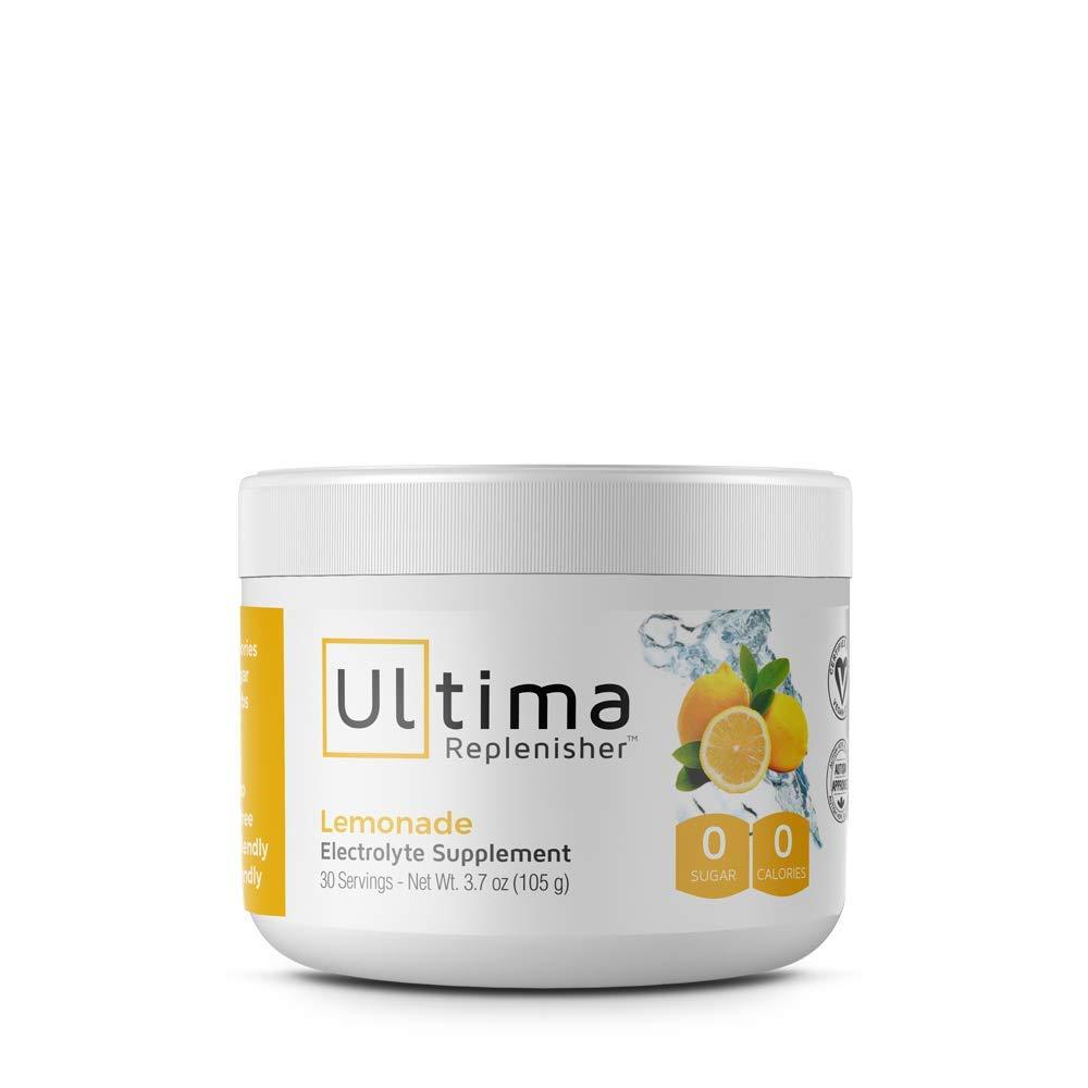 Ultima Replenisher Electrolyte Powder 30 Serving Canister, Lemonade, 3.7 Ounce (pack of 2)