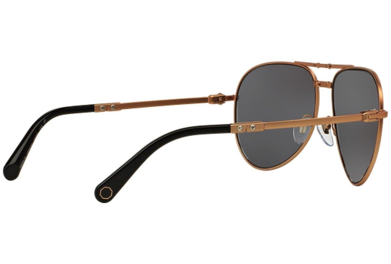37e04c144c Amazon.com  BVLGARI Le Gemme Black Rose Gold 18K Plated POLARIZED Foldable  Sunglasses 5034  Clothing