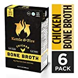 Kettle & Fire Chicken Bone Broth Soup by Kettle and Fire, Pack of 6, Keto Diet, Paleo Friendly, Whole 30 Approved, Gluten Free, with Collagen, 7g of protein, 16.2 fl oz