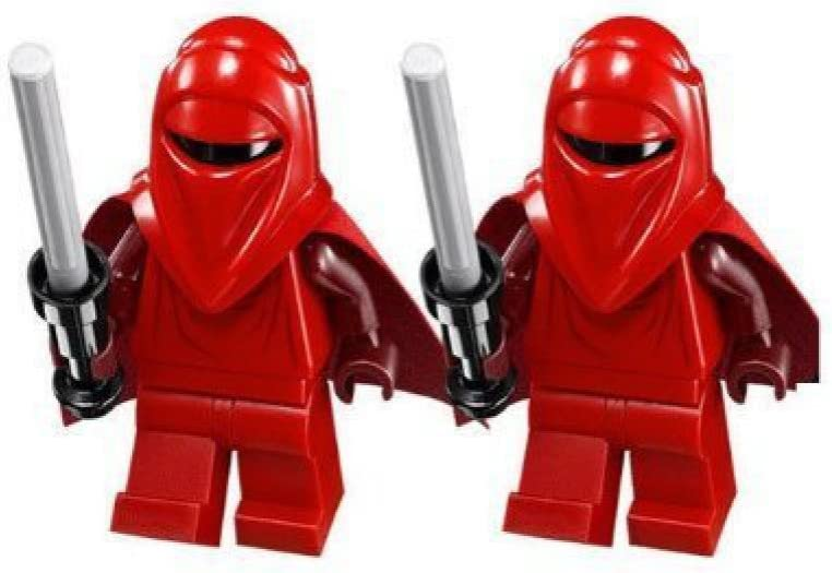 Lot of 2 LEGO Star Wars Shadow Royal Guard Minifigure Black Royal Guard