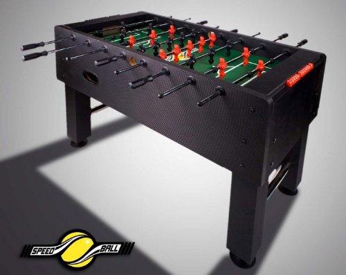 Speedball Tischkicker Premium Kickertisch in Profi Turnier Ausführung - schwarz