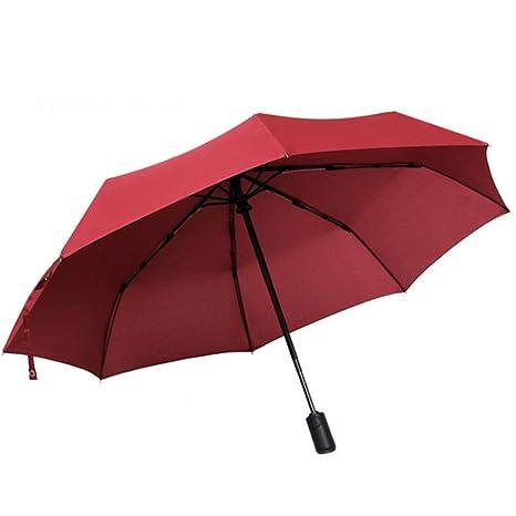 LybCvad paraguas Sombrillas transparentes paraguas rosa multicolores negocios paraguas hombres y mujeres doble a prueba de