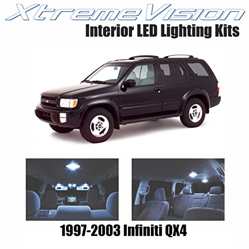 XtremeVision Infiniti QX4 1997-2003 (4 Pieces) Cool White Premium Interior LED Kit Package + Installation Tool