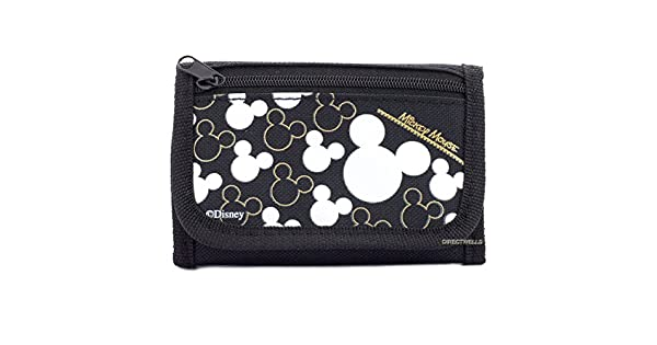 Amazon.com: Disney Mickey Mouse negro plata Trifold ...