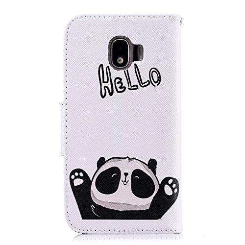 Portefeuille Coque Etui pour Pro Housse J2 Coque Homme Samsung Galaxy Protection 2018 Femme 2018 J2 Pro 2018 de Motif Cuir Galaxy J2 Herbests à Rabat pour Panda 1 Etui de Protect Étui Galaxy avec en Fille Pro HHw4Yr