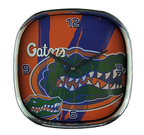 - The Memory Company University of Florida Gators Glass Face Wall Clock Chrome Finished Frame