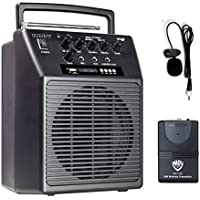 Nady WA-120BT LT Wireless Portable compact P.A full-range speaker system with built-in amplifier, BLUETOOTH, mp3 player, mixer, lavalier wireless microphone with rechargeable battery