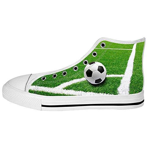 Chaussure De Toile De Football De Sport De Womens Fait Sur Commande Les Chaussures De Lacets Baskets Montantes
