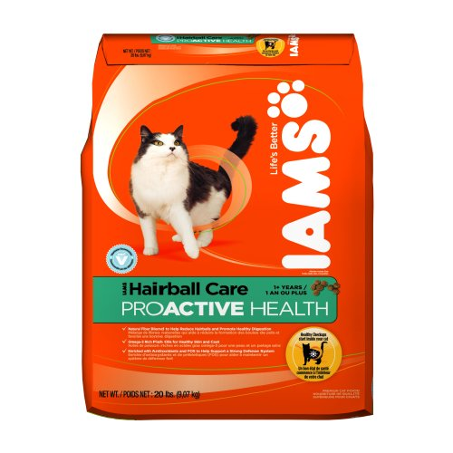 Iams Proactive Health Adult, Hairball Care,  20-Pound Bags