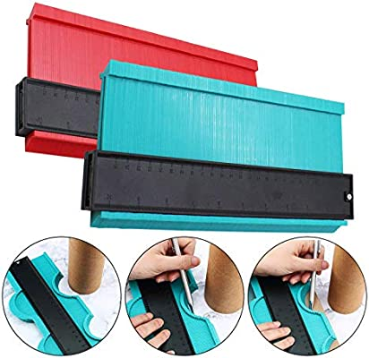 5 Inch and 10 Inch Plastic Profile Gauge Measure Ruler Tool for Corners and Contour YEECHUN Upgraded Widen 2 Pack Contour Gauge Duplicator Red And Green