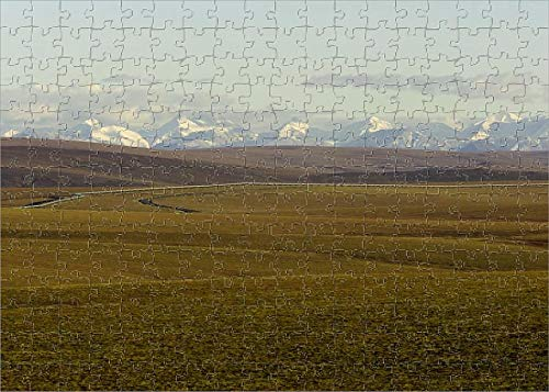 Media Storehouse 252 Piece Puzzle of USA, Alaska, North Slope, covid 19 (Trans Alaska Pipeline Brooks Range coronavirus)
