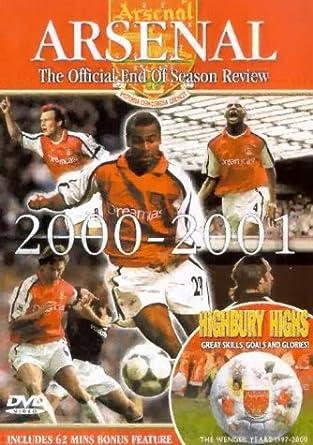 db295c91665 Arsenal Fc  End Of Season Review 2000 01 Highbury Highs DVD  Amazon ...