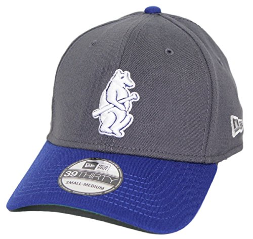 New Era Chicago Cubs MLB 39THIRTY Cooperstown Classic Flex Fit Hat - Graphite