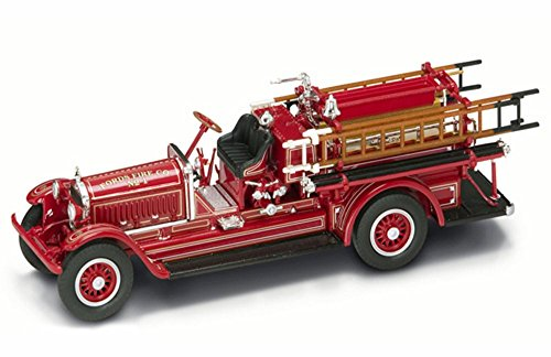 1924 Stutz Model C Fire Engine Fords Fire Co. No.1, Red - Yatming 43006 - 1/43 Scale Diecast Model Toy (43 Red Diecast Model)