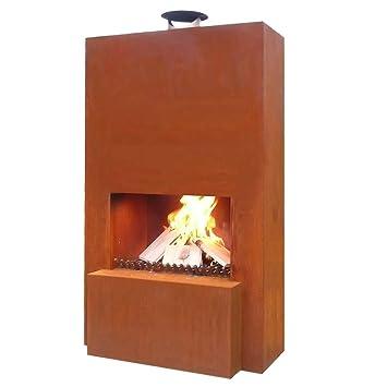 Gardenmaxx Pinacate Corten Steel Chiminea Outdoor Fireplace Heater