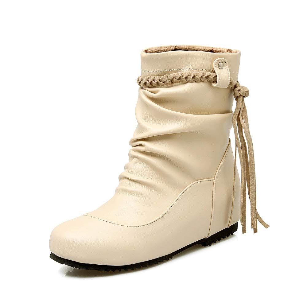 CITW Herbst Damenstiefel Brüllen Stiefel Große Schuhe Decken Einzelne Stiefelmode Damenstiefel,Beige,UK3 EUR37