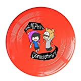 YQUE56 Unisex Dan And Game Phil Animated Pink Outdoor Game, Sport, Flying Discs,Game Room, Light Up Flying, Sport Disc ,Flyer Frisbee,Ultra Star Red One Size