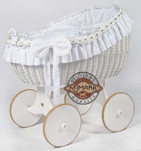 Stubenwagen Komplett Bollerwagen Stubenwagen Babykorb BIANCA DUE WHITE