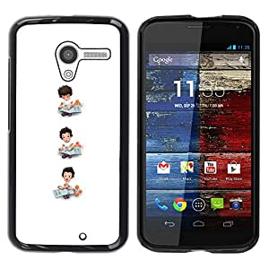 YOYOYO Smartphone Protección Defender Duro Negro Funda Imagen Diseño Carcasa Tapa Case Skin Cover Para Motorola Moto X 1 1st GEN I XT1058 XT1053 XT1052 XT1056 XT1060 XT1055 - blanco minimalista madres niño madre
