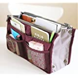 So Beauty 1pcs Women Travel Insert Handbag Organiser Purse Large Liner Organizer Tidy Bag