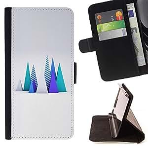 Momo Phone Case / Flip Funda de Cuero Case Cover - Polígono Arte Árboles Resumen Computadora - Samsung Galaxy S6 Active G890A