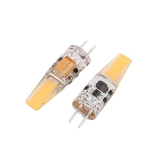 Aexit 2 Unids AC / DC 12V 6W Zafiro COB Chip G4 LED Bombilla ...