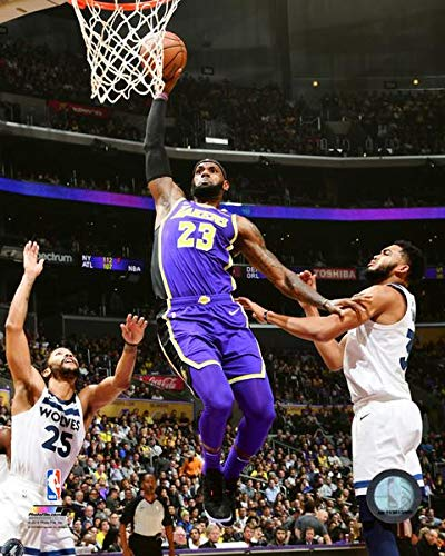 c71709edcc37 Image Unavailable. Image not available for. Color  Lebron James Los Angeles  Lakers 2018-19 NBA Action ...