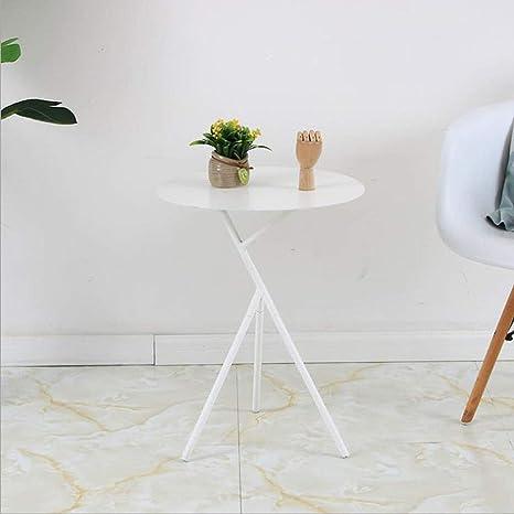 ACZZ Mesa auxiliar de sofá, pequeña mesa auxiliar moderna de ...