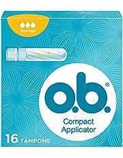 o.b.® ProComfort® Compact Applicator Normal tampons met applicator voor discreet en eenvoudig inbrengen en betrouwbare bescherming, 16 stuks per verpakking