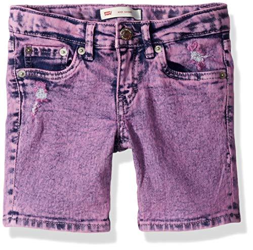 Girls Acid Wash - Levi's Girls' Big Denim Midi Shorts, Sachet Pink, 10