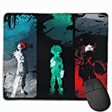 Mouse Pad with Designs, Anti Slip My Hero Academia Mouse Mat for Desktops, Computer, PC and Laptops, Customized Mouse Pad for Office and Home