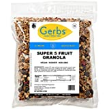 Super 5 Fruit Granola, 2 LBS By Gerbs - Top 12 Food Allergy Free & NON GMO - Preservative Free & Kosher - Cranberry, Blueberry, Goji Berry, Cherry, Raisin