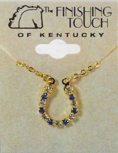 Finishing Touch Crystal Horseshoe Necklace - - Sapphire Horseshoes
