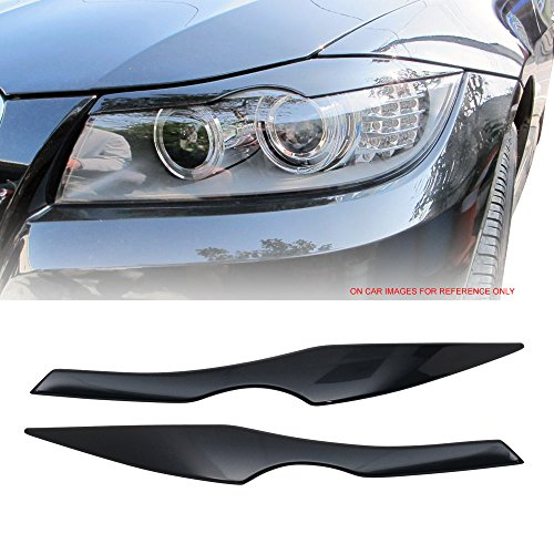 Pre-painted Eyelid Fits 2006-2011 BMW 3 Series E90 | ABS Painted #A35 Monaco Blue Metallic Headlight Eyelid Eyebrow Other Color Available By IKON MOTORSPORTS | 2007 2008 2009 -