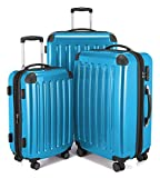"HAUPTSTADTKOFFER - Spree - Set of 3 Hard-side Luggages Suitcase Hardside Spinner Trolley(20"", 24"" & 28"") TSA (Alex Cyanblue)"