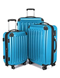 HAUPTSTADTKOFFER Alex Double Wheel Luggage Set 18 different colors Suitcase Set Size (20'24'28') Trolley TSA Cyanblue