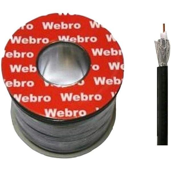 Webro - Cable coaxial (50 m, RG6, Digital, para Antena y ...