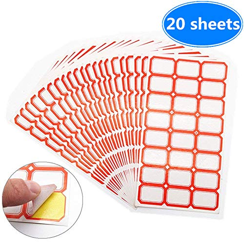 Tag Label Paper Sticker Self-Adhesive Hand-Written Price Take Stickers Blank Markings Posted 20 Sheet / 480pcs