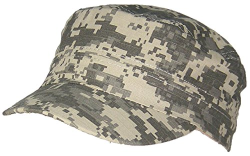 Tropic Hats Little Kids Camouflage Adjustable Military/Cadet Style Cap (One Size) - Digital Camo - Ripstop
