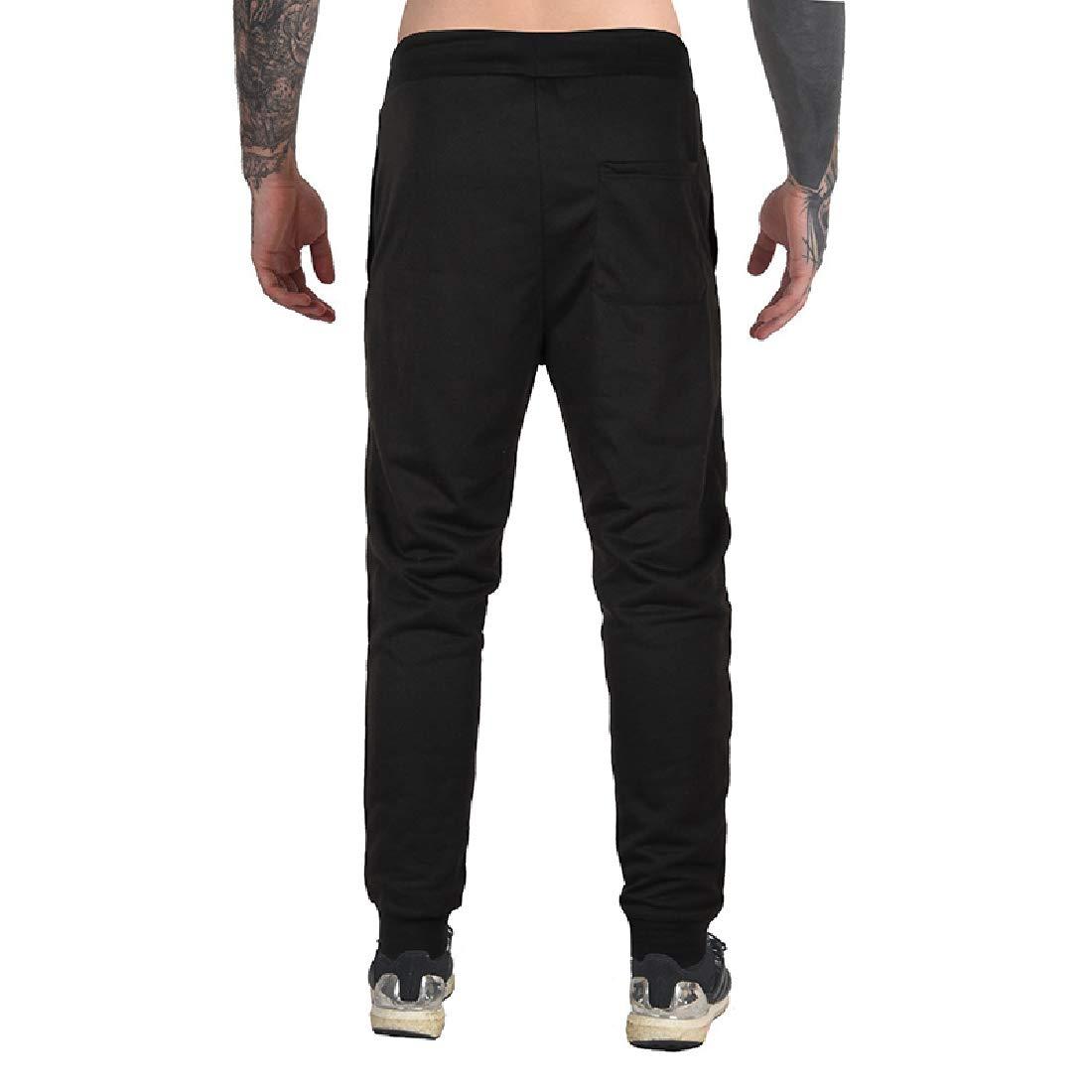 Andopa Mens Sports Drawstring Vogue Casual Loose Cotton Sport Pants
