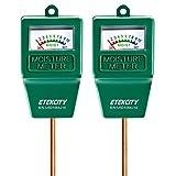 Etekcity Indoor Outdoor Plant Soil Moisture Sensor Meter,Water Monitor, Hydrometer for Gardening,Farming, 2 Pack