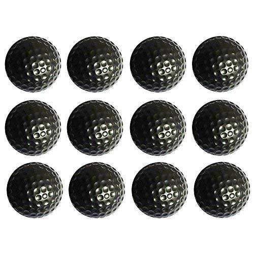 BCQLI Practice Golf Balls, Foam, 12 Count(Black)