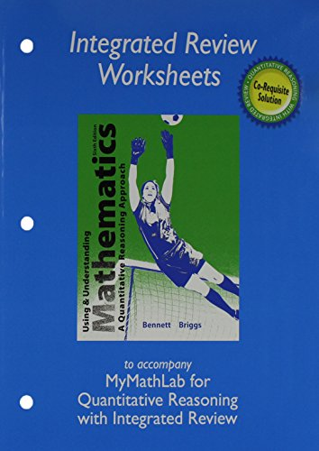 Student Worksheet - Worksheets plus MML Student Access Card for Using and Understanding Mathematics with Integrated Review